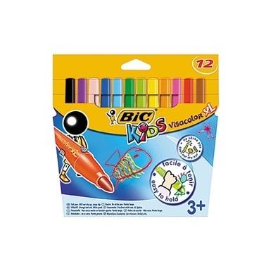 Bic Keçeli Boya Kalemi 12'li Renkli